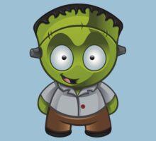Frankenstein Monster Boy Grinning Kids Clothes