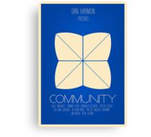 Community - Minimalist Movie Posters Canvas Print