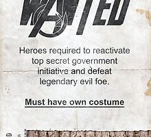 Heroes Wanted - The Avengers by WalnutSoap