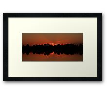 summer morning Framed Print