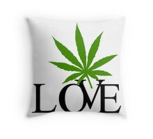 Love Marijuana Throw Pillow