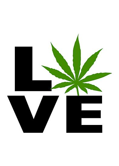I Love Marijuana by MarijuanaTshirt