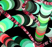 Color Worms Turquoise by SRowe Art