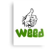 I Love Weed Metal Print