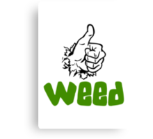 I Love Weed Canvas Print