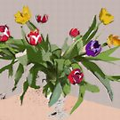 Tulips in a vase by OlaG