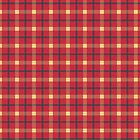 Red, Yellow, and Grey Tartan by sundayedition