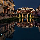 Pagoda Bridge Reflections (Vietnam) by Kim Andelkovic
