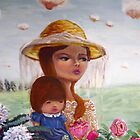 Mother and Child in the garden by carla zamora