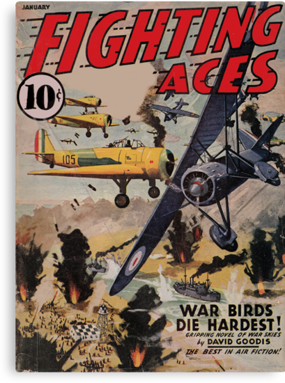 Fighting Aces - January 1941 by perilpress