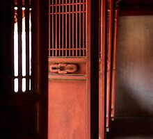 Door's to Shrine to Confucius - Hanoi - Vietnam by Malcolm Heberle