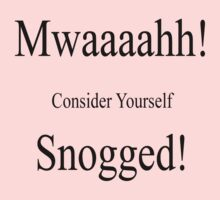 Mwaaah, consider yourself Snogged by SpareRoomDesign