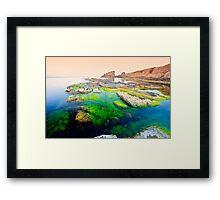 sunrise of the amazing shore Framed Print
