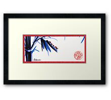 """Follow the Leader"" - Ladybug mama and kids go for a walk Framed Print"