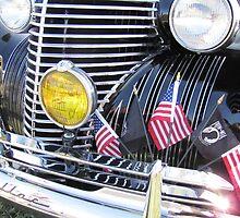 Patriotic 1940 Cadillac Brightwork  by RustedStudio
