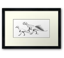 Ornithischians, Enquilled Framed Print