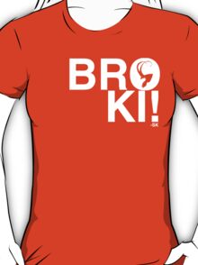 BROKI!-White Print T-Shirt