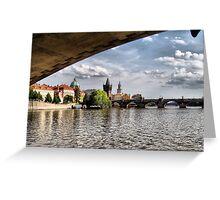 Prague - Under the Bridge Greeting Card