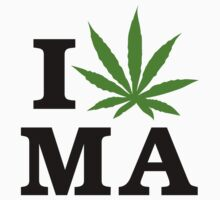 I Marijuana Massachusetts by MarijuanaTshirt