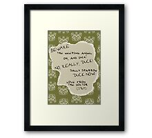 Love From the Doctor Framed Print