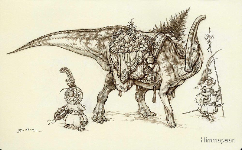 Holiday Hadrosaur 2011 by Himmapaan