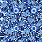Blue Cartoon Cat Pattern by SaradaBoru