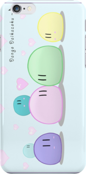 Dango Family iPhone Case by Aslfrasle