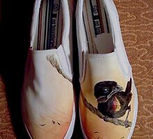 We put Birds on Things (Painted Shoes) by SharksEatMeat