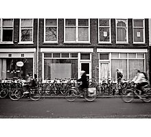 Bicycling in the fast lane, Utrecht, The Netherlands Photographic Print