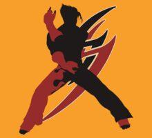 Tekken Jin Silhoutte by Tomer Abadi