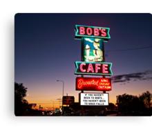 Bob's Cafe Canvas Print