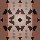 Native Pattern - Dark Brown Triangles by hmx23