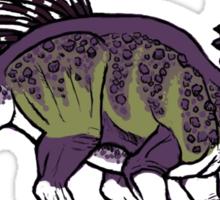 Purple and Green Pachyrhinosaurus Sticker