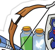 Zelda quest items Sticker
