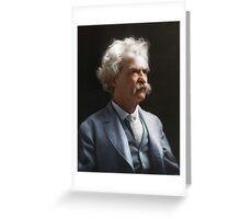 Colorized  - Mark Twain / Samuel L Clemens Greeting Card