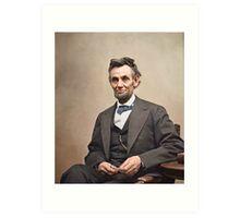 Colorized  - Abraham Lincoln Art Print