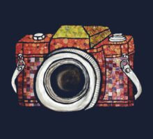 Patchwork Camera (dark tee) by fixtape