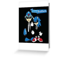 The Blue Brothers Greeting Card