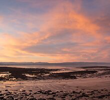 Sunset at the Severn Estuary by Cliff Williams