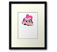 Pinkie pie and the fourth wall... Framed Print