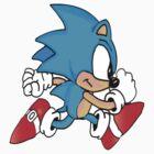 Sonic Running by gmanquik
