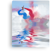 Flood Break - The Red Arrows Canvas Print
