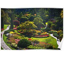 Sunken Garden - Butchart Garden Poster