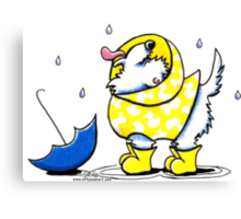 Westie Rainy Day Canvas Print