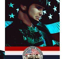 Support our troops by anguishdesigns
