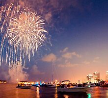 Fourth of July West Palm Beach Waterfront by Jacki Campany