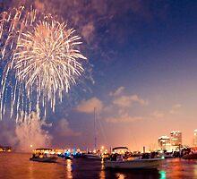Fourth of July West Palm Beach Waterfront by Jacki Campany