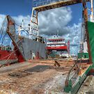 Cargo Boats at Potter's Cay - Nassau, The Bahamas by 242Digital