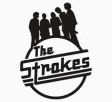 the strokes logo with band by morganbryant