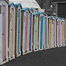 Beach huts at Ventnor by herbpayne